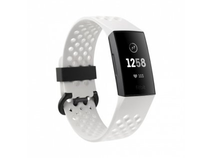 01 Fitbit Charge 3 Special Edition - Graphite / White Silicone