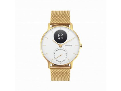 01 Withings Steel HR 36mm limited edition champagne gold white