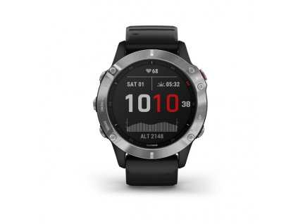 garmin fenix 6 silver black band 01
