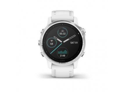 garmin fenix 6s silver white band 01