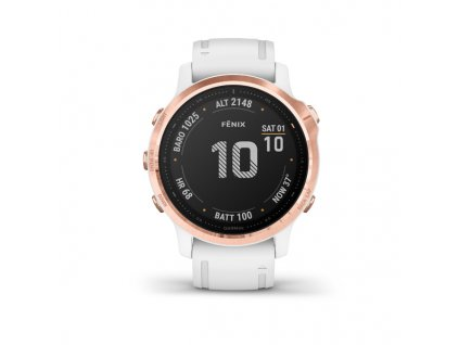 garmin fenix 6s pro rose gold white band 01