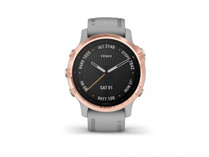 garmin fenix 6s sapphire rose gold tone powder gray band 01