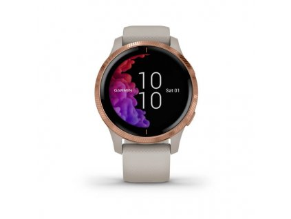 garmin venu light sand rose gold 01