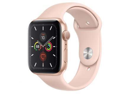 Apple Watch Series 5 44mm Gold Aluminium Pink Sand Sport Band 01