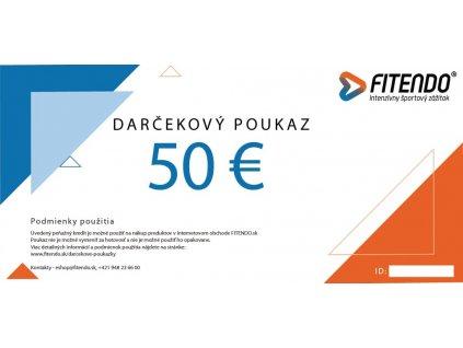 darcekovy poukaz v hodnote 50 eur fitendo sk