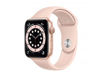 apple watch series 6 gps 40 mm gold aluminium case pink sand sport band 01
