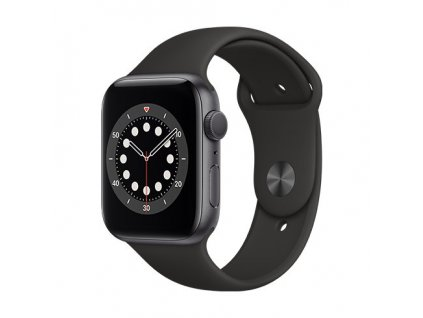 Apple Watch Series 6 GPS 40 mm Space Gray Aluminium Case with Black Sport Band 01