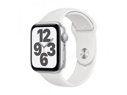 apple watch se gps 40 mm silver aluminium case with white sport band regular i107426