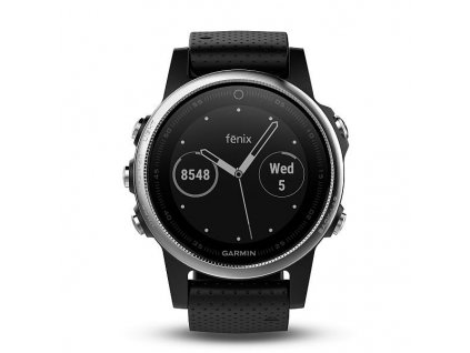 Garmin fénix 5S Silver, Black band