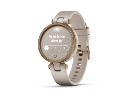 garmin lily sport rose gold light sand silicone 01