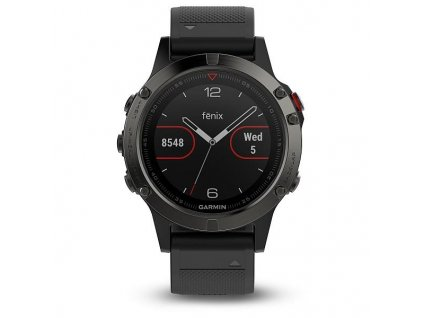 Garmin fénix 5 Slate gray, Black band