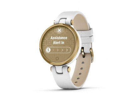 garmin lily classic gold white italian leather 01