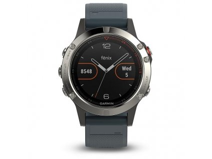 Garmin fénix 5 Silver, Granite blue band