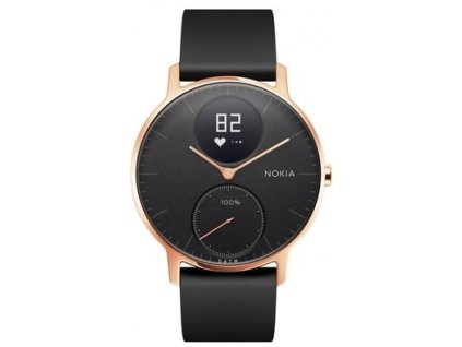 Nokia Steel HR (36mm) Rose Gold w/ Black Silicone wristband