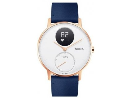 Nokia Steel HR (36mm) Rose Gold w/ Blue Leather