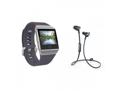 Fitbit Ionic Blue-Gray/White + Flyer Nightfall Blue  + Ochranná fólia na displej v hodnote 6€ zadarmo!