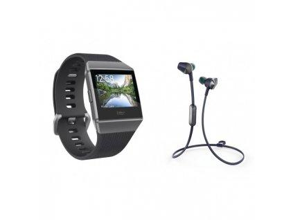 Fitbit Ionic - Charcoal/Smoke Gray + Flyer Nightfall Blue  + Ochranná fólia na displej v hodnote 6€ zadarmo!