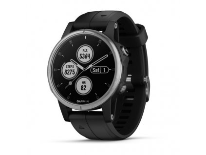 Garmin fénix 5S Plus Silver, Black band
