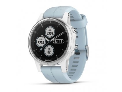 Garmin fénix 5S Plus White, Sea Foam band