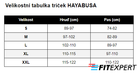tricka_hayabusa_velikostni_tabulka