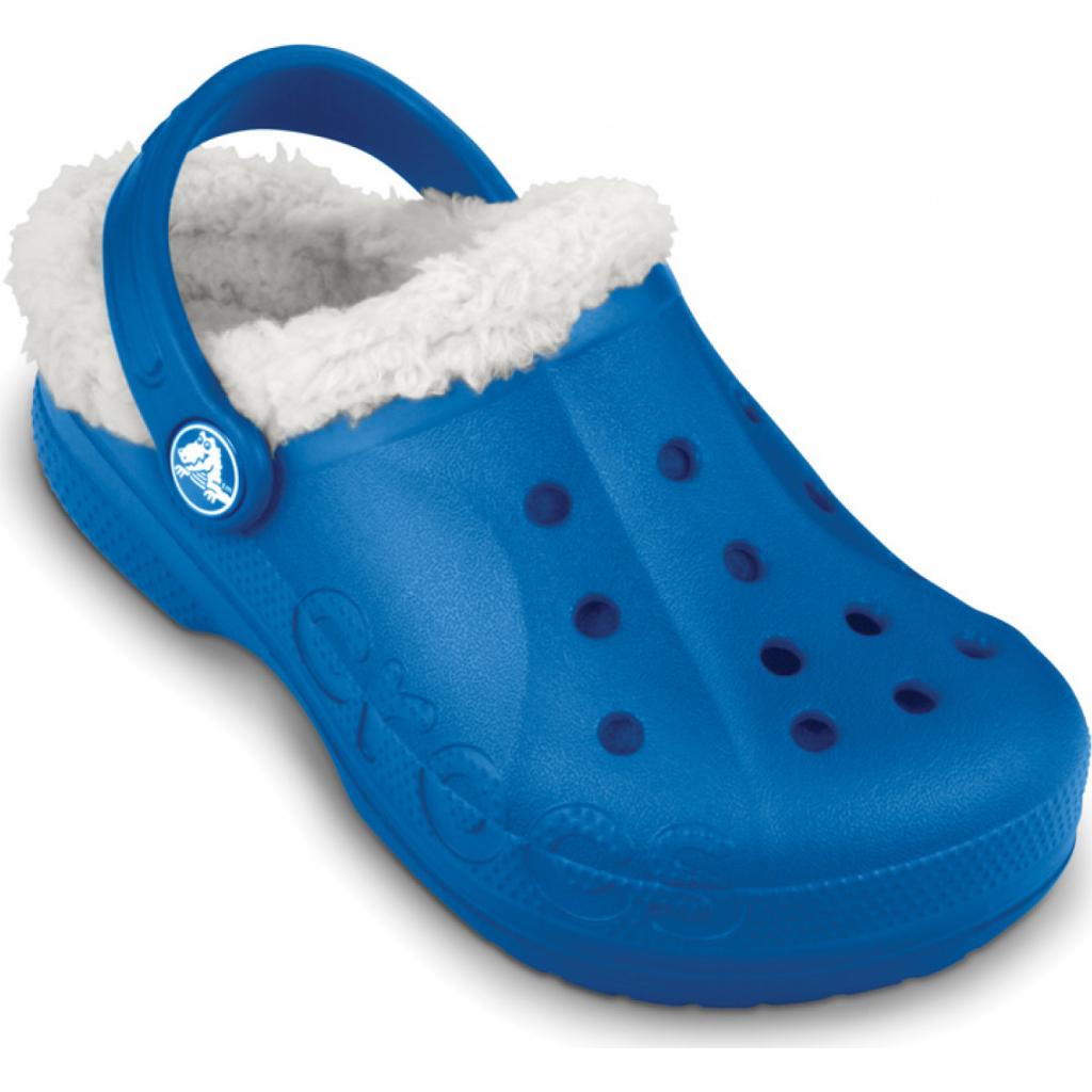 507e1636aa3 ... Crocs Baya Lined Kids - Sea Blue Oatmeal ...
