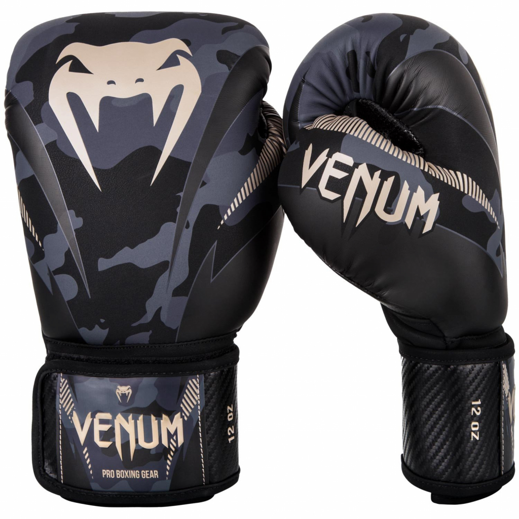 venum boxing gloves rukavice box impact dark camo sand f5