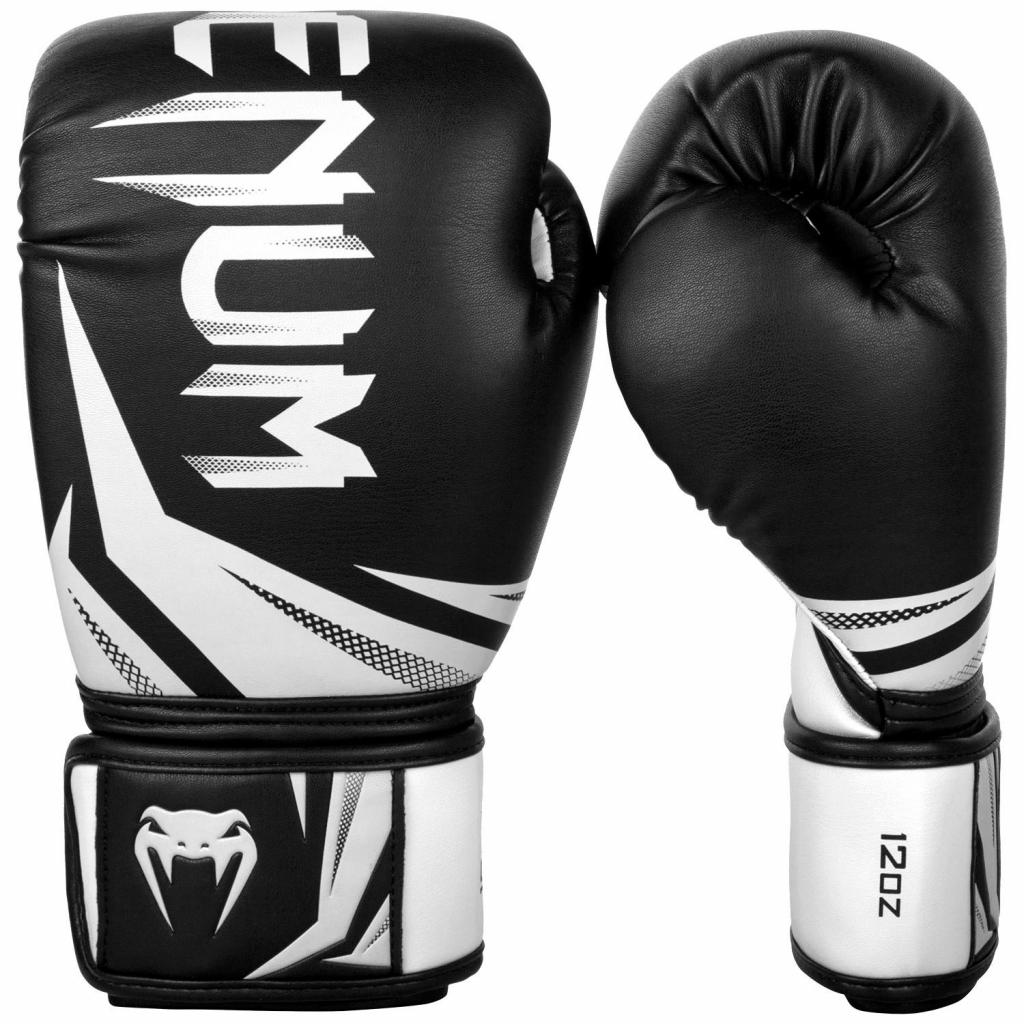 boxing gloves venum rukavice challenger 3.0 black white f0