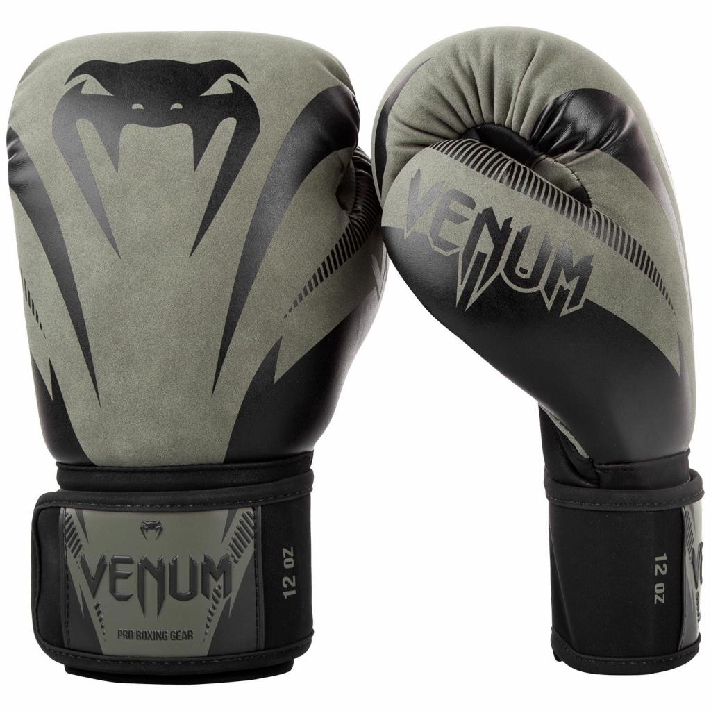 boxing gloves venum impact khaki black f1