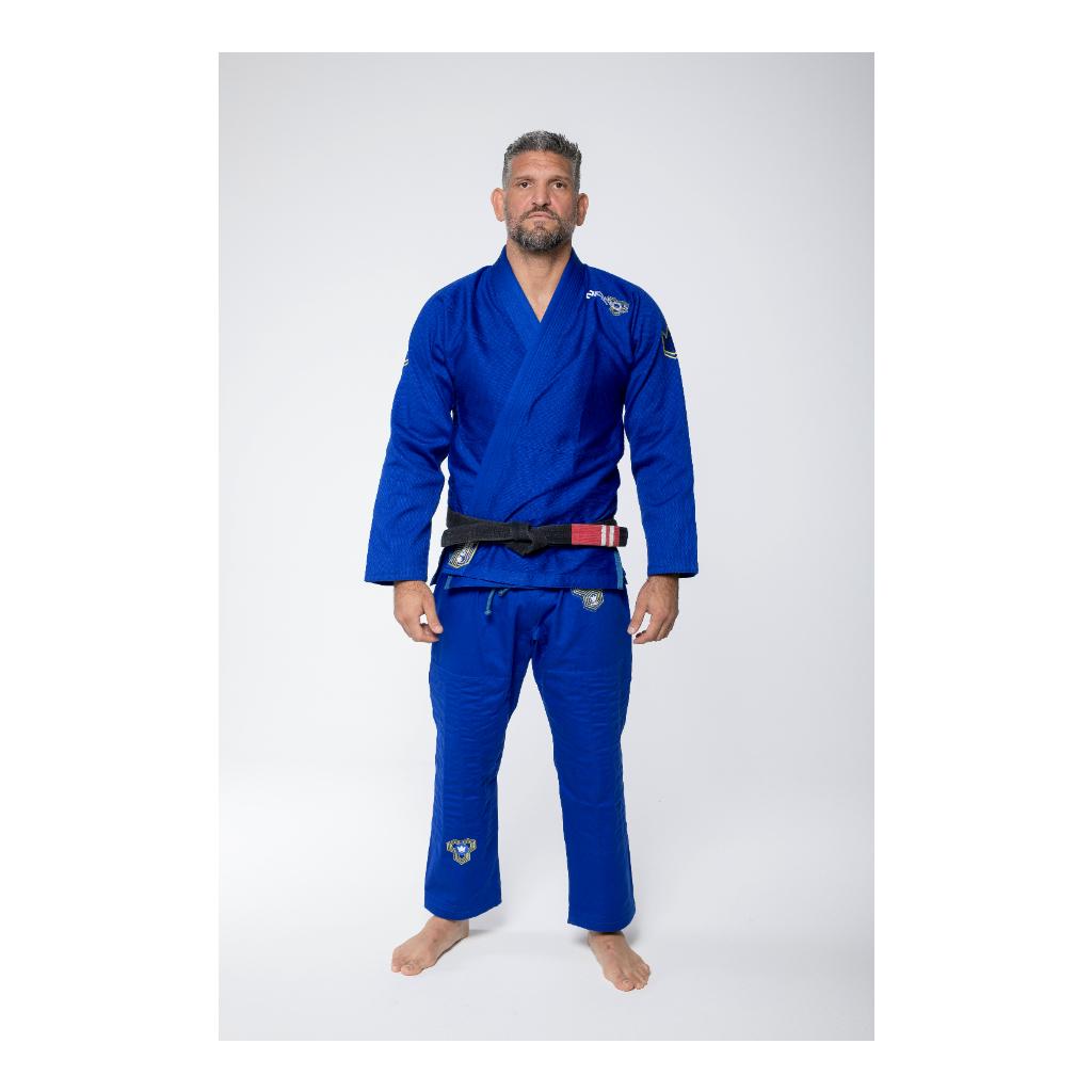bjj gi kimono kingz nano2 modre blue jiu jitsu f1