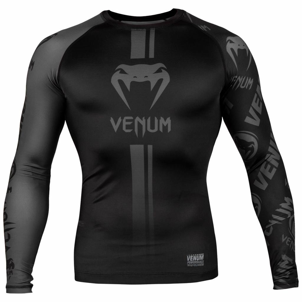 venum 03451 114 rashguard long sleeves black black f1