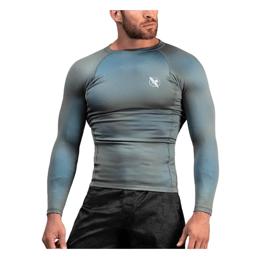 hayabusa fusion rashguard grey aqua f1