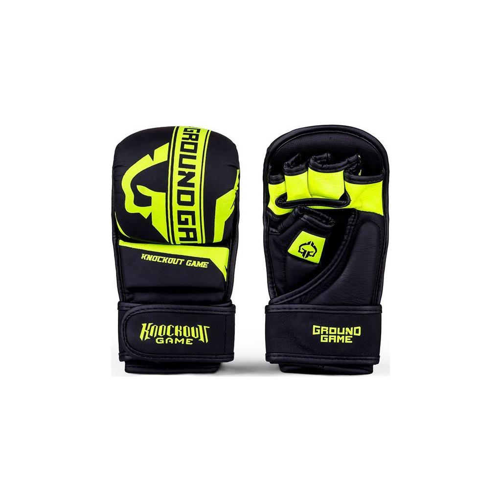 Tréninkové MMA rukavice Ground Game STRIPE NEON