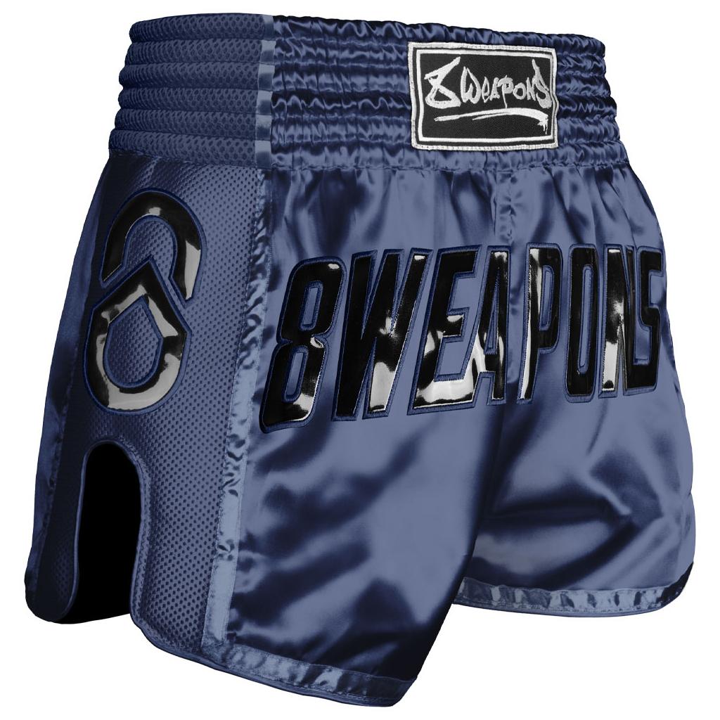 8weapons muay thai shorts super mesh grand bleu