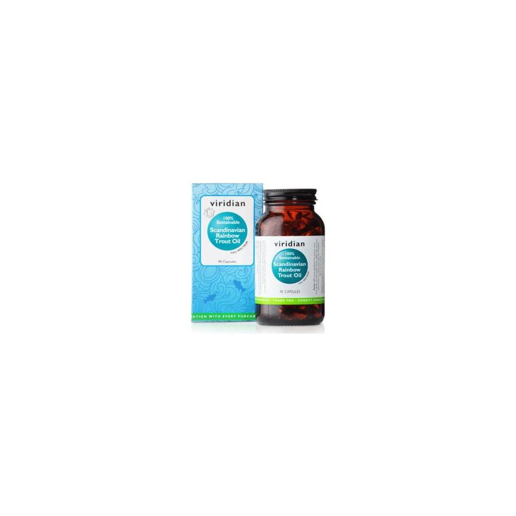 VIRIDIAN nutrition Scandinavian Rainbow Trout Oil 90 kapslí