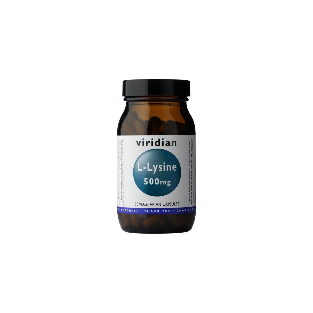 VIRIDIAN nutrition L-Lysine 90 kapslí