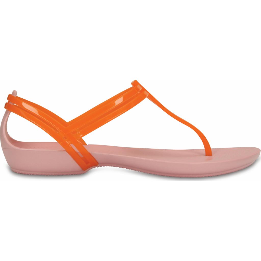 Crocs Isabella T-strap Active Orange/Petal Pink