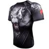 rashguad short sleeve kratky rukav venum werewolf ss black grey fightexpert f2
