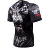 rashguad short sleeve kratky rukav venum werewolf ss black grey fightexpert f3