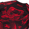 rashguard venum dragons flight black red f7