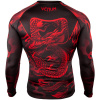 rashguard venum dragons flight black red f4