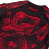 rashguard venum dragons flight black short red f7