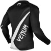 rashguard venum long sleeve contender4 black white f4