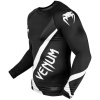 rashguard venum long sleeve contender4 black white f2