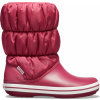 Crocs Winter Puff Boot Women - Pomegranate/White