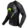rashguard long venum technical 2.0 black yellow f2