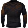 rashguard venum long sleeves nogi black brown f3