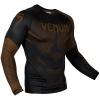 rashguard venum long sleeves nogi black brown f2