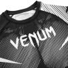 rashguard venum short sleeves nogi black white f5