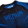 rashguard venum short sleeves nogi black blue f5