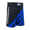 bad boy training series impact mma shorts black blue sortky f1